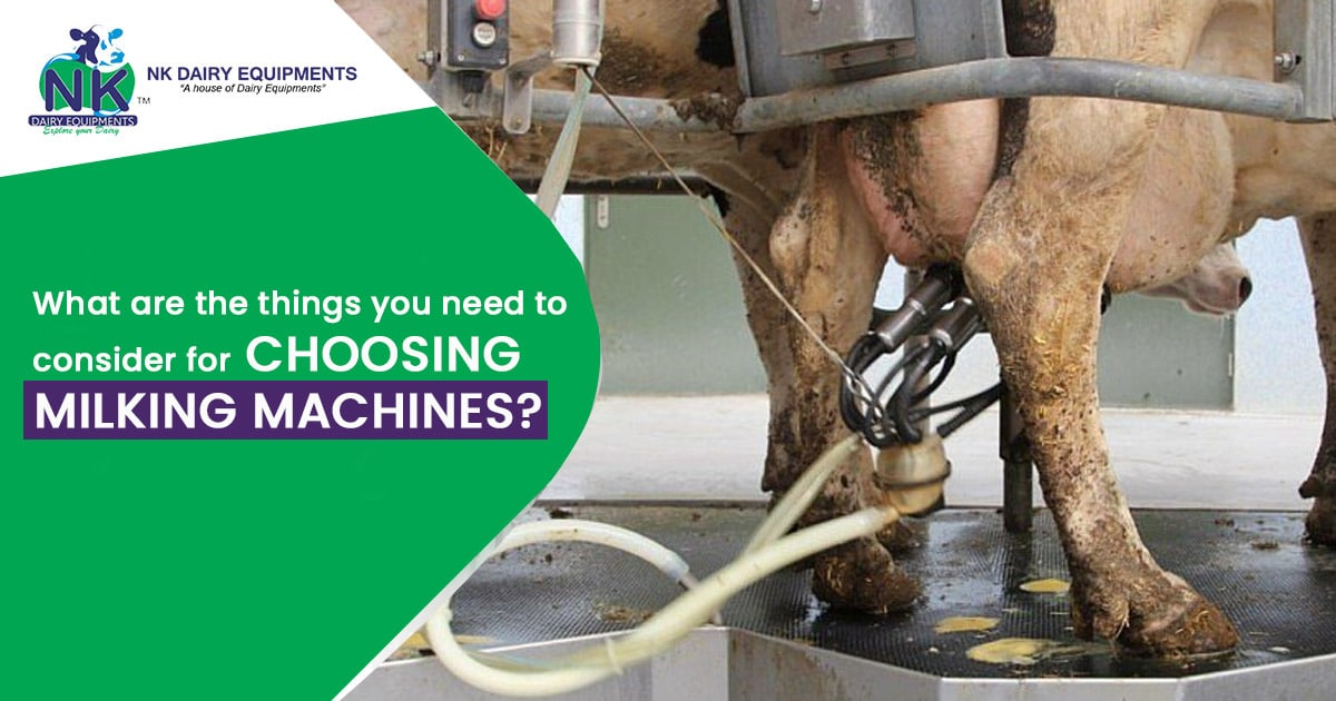 What are the things you need to consider for choosing milking machines